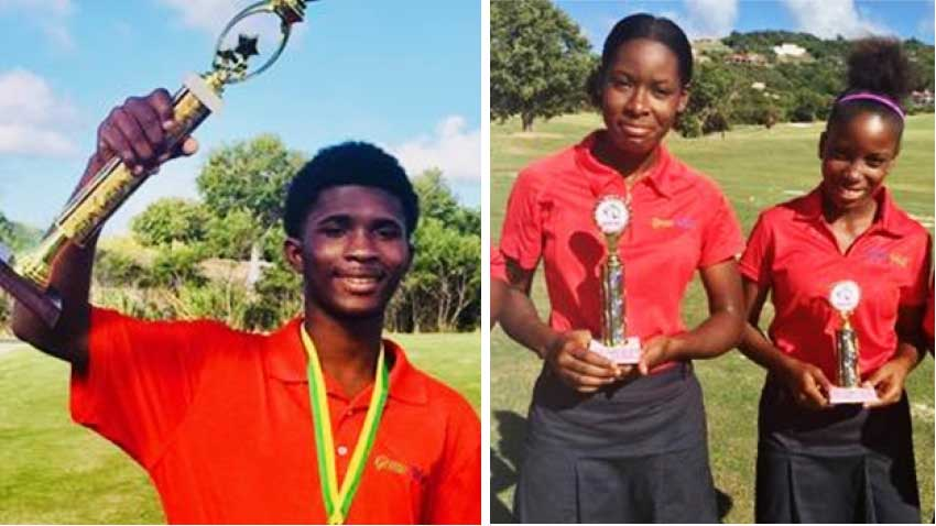Image: (L-R) Keymanie Thomas, the reign continues; Girls Champion Lisa Daniel (right) faced strong competition from runner-up Celina Lubin. (Photo: SLGA)