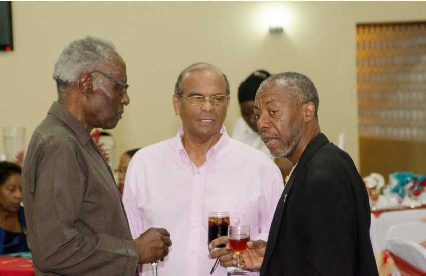 Image of Mr Theophilus, Mr Pilgrim, and Mnsgr Anthony at Homes' 30th anniversary   celebration.