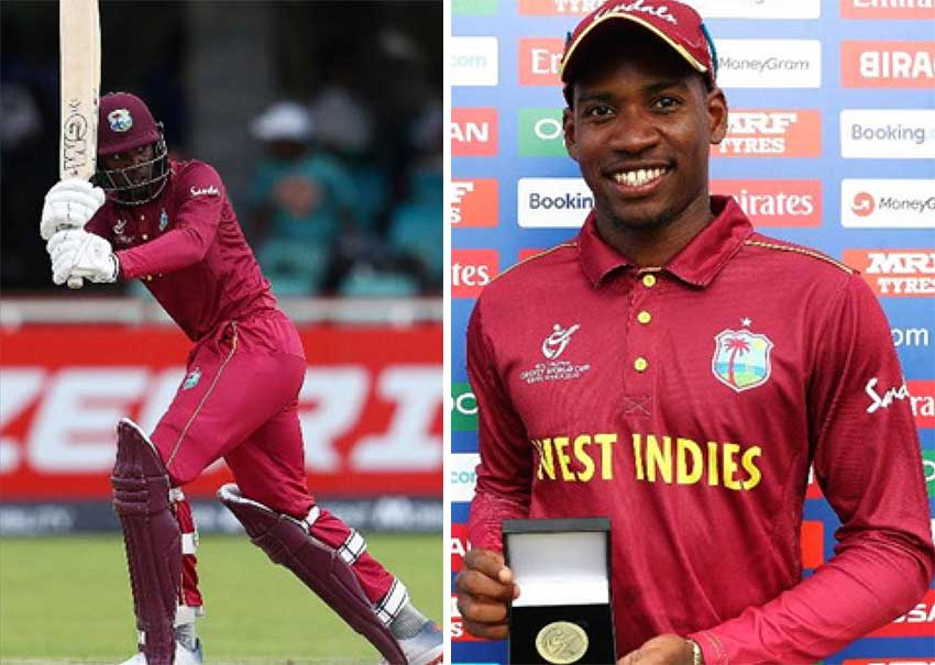 Image: West Indies Under 19 middle order batsman Nyeem Young scored 66 runs and went on to pick up 5 wickets for 45 runs.  (PHOTO: CWI Media)