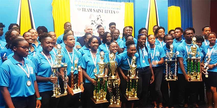 Image: Saint Lucia 2019 Windward Islands Schools Champions. (PHOTO: SA/ Anthony De Beauville)