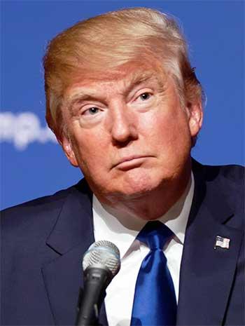 Image of US President Donald Trump.