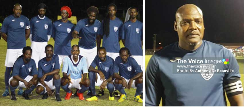 Image: (L-R) Valley Ledgends advance to the semifinal round; Team captain, Errol Henry. (Photo: Anthony De Beauville)