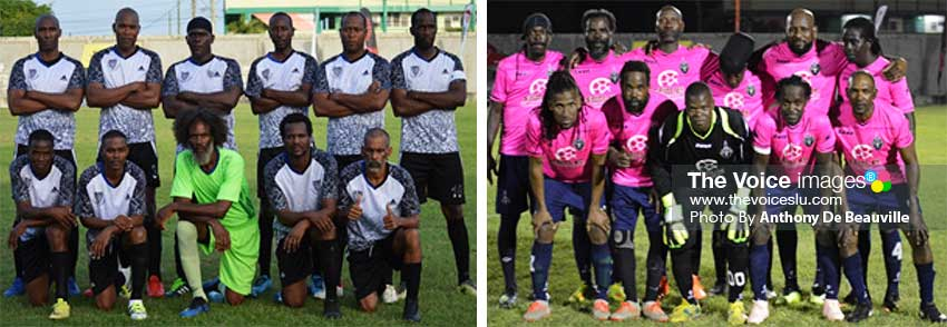 Image: (L-R) Finalists for this evening: All Blacks - Dennery and Central Vieux Fort (PHOTO: Anthony De Beauville)