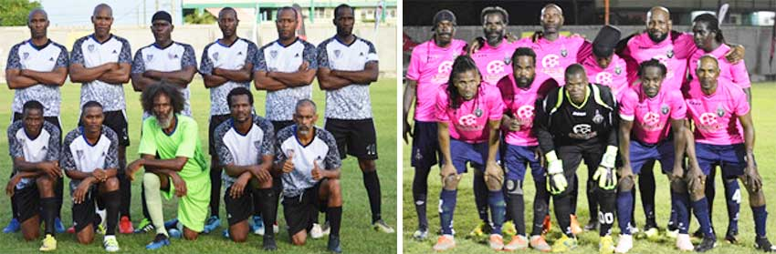 Image: (L-R) All Blacks - Dennery and Central Vieux Fort Caribbean Alliance Gold Cup finalists. (PHOTO: Anthony De Beauville)