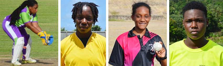Image: (L-R) Ashlene Edward (captain), Qiana Joseph, Zadia James and Nerissa Crafton. (PHOTO: Anthony De Beauville)