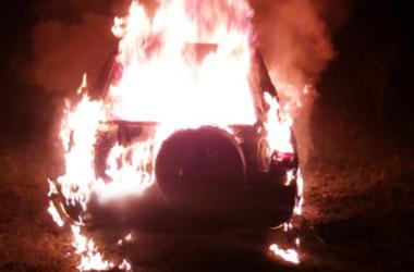 Image of Burning Vehicle