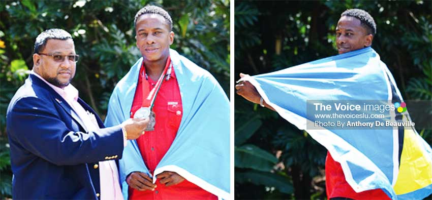 Image: (L-R) ) Jason Frazer (Trinidad and Tobago) and Terry Agostiny (Saint Lucia). (PHOTO: Anthony De Beauville)