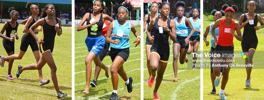 Image: (L-R)Some of the faces that were on show at SJC's 2020 Inter House Sports Meet. (PHOTO: Anthony De Beauville)
