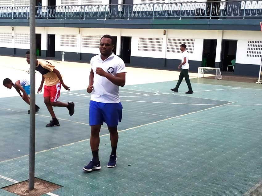 Image: Physical Education and Sports Specialist at the Leon Hess Comprehensive Secondary School Selva Wilson.