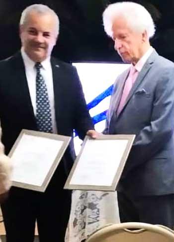 Image of Ambassador Alejandro Simancas & Governor General His Excellency Sir Emmanuel Neville Cenac.
