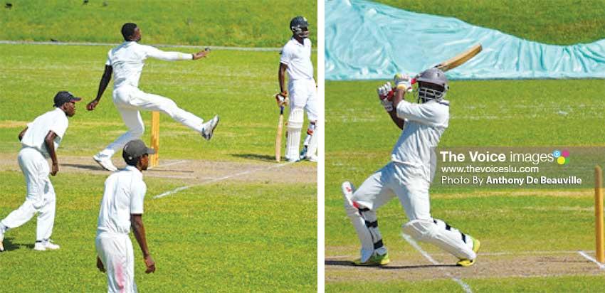 Image: (L-R) Left arm fast bowler Dillan John picked up 3 for 32; Tonius Simon scored 67. (PHOTO: Anthony De Beauville)