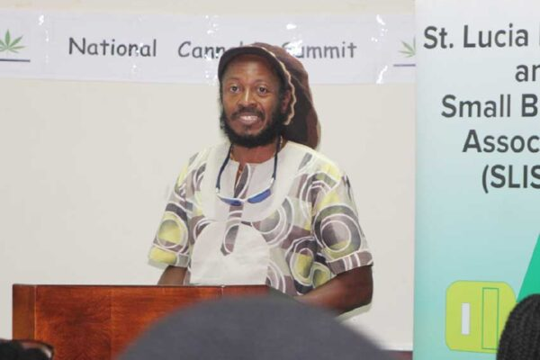 Image of ICAR Representative Aaron Alexander addressing participants at the summit Sunday.