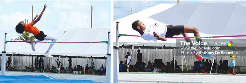 Image: (L-R) High Jump boys,  No.1923 – Kevin Simon; No. 1198 – SadiqServille will square off. (PHOTO: Anthony De Beauville)