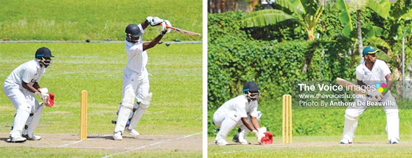 Image: (L-R) Malcolm Monrose 72; KesterCharlemangne 75 not out and 92.  (PHOTO: Anthony De Beauville)