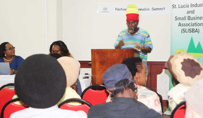 Image: A National Cannabis Summit hosted by SLISBA last month in Soufriere where the groups first met.