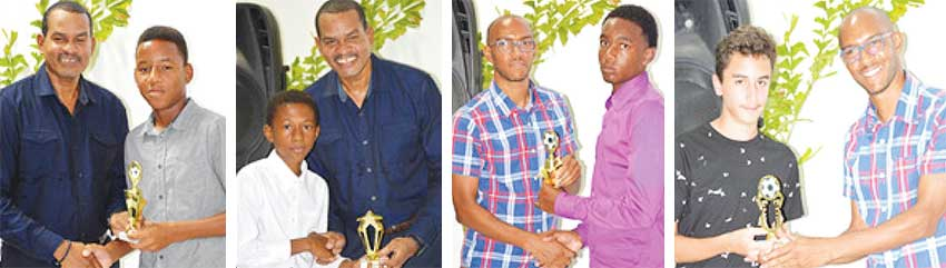 Image: (L-R) ) Roger Joseph and Lionel John presenting awards to the winners. (PHOTO: Anthony De Beauville)