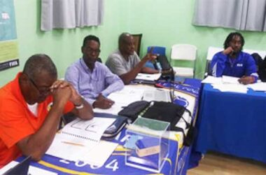 Image: SLFA staff during training workshop. (PHOTO: SLFA)