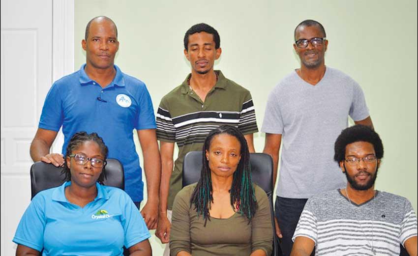Image: (L-R) The re-elected Saint Lucia SAMBO Association Executive. Center front row: President Lashelle Regis. (PHOTO: Anthony De Beauville).