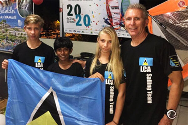 Image: The junior team consisting of Sebastian Ambler, Brianna Batrick, and Brice Batrick were accompanied by Team Manager, David Batrick. (PHOTO: SLYC)