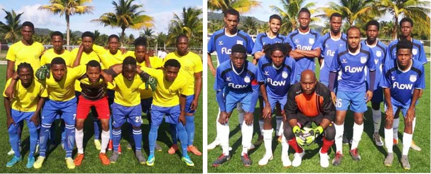 Image: (L-R) T Valley defeated Flow Lancers FC 3-1. (Photo: SLFA)