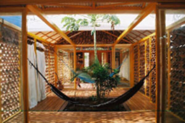 Image of Bamboo architecture.