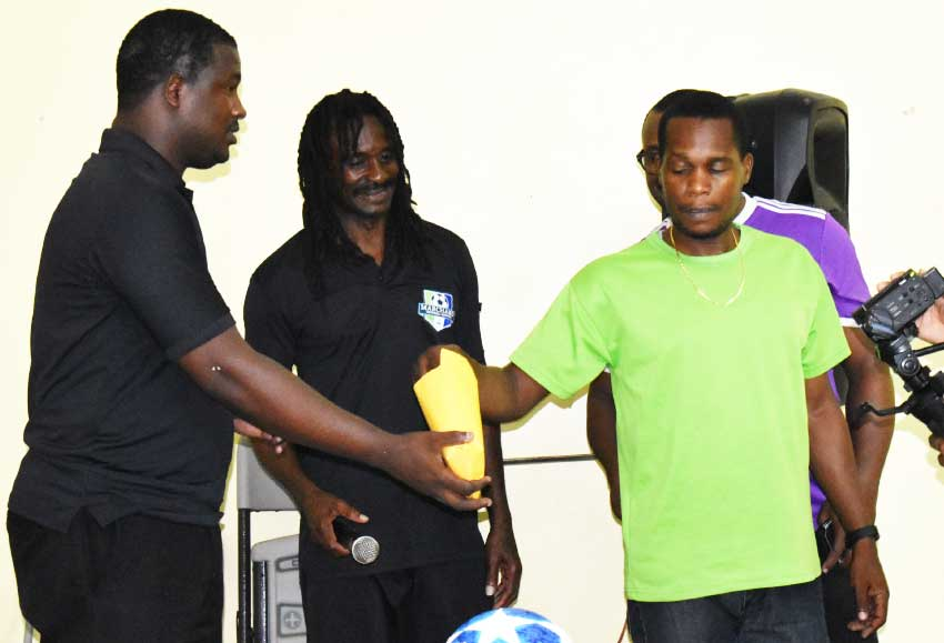 Image: B1 FC Representative during the team seeding process. (PHOTO: Anthony De Beauville)