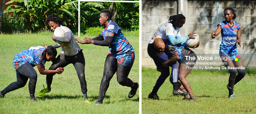 Image: (L-R) Whiptail Warriors and Renegades women on show on Sunday 11th October. (PHOTO: Anthony De Beauville)