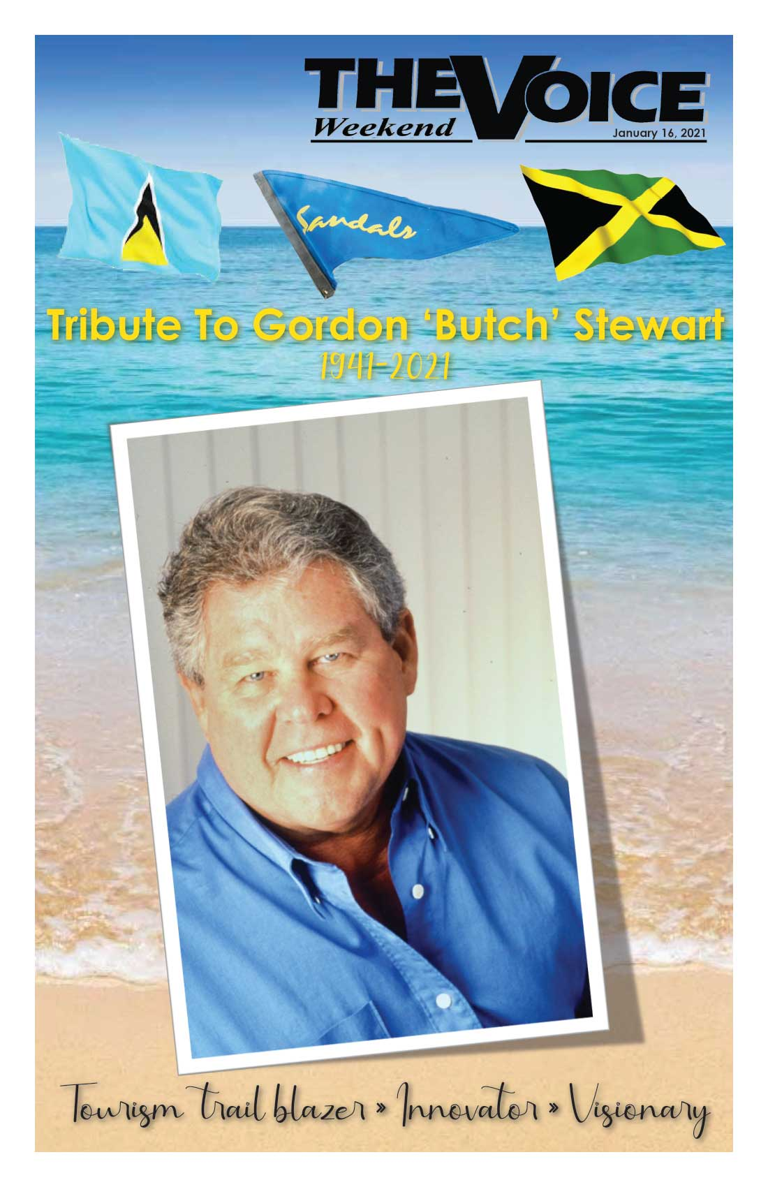 Image of the cover of our Voice Special Issue — Tribute to Gordon 'Butch' Stewart