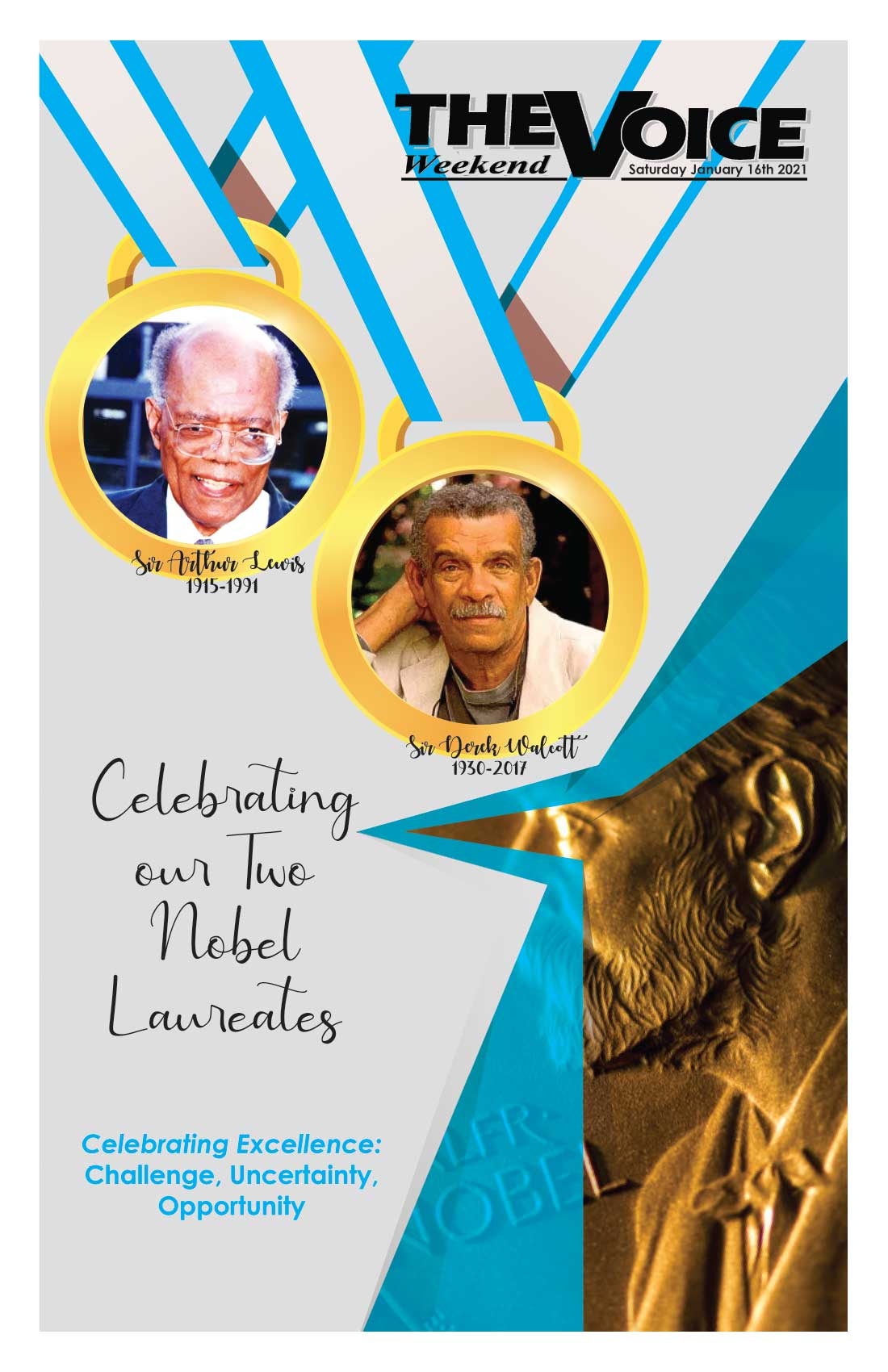 Front page of Voice Special Issue — Celebrating our Two Nobel Laureates