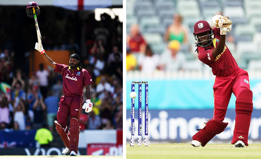 Image: Christopher Gayle and Stafanie Taylor. (PHOTO: Getty Images)