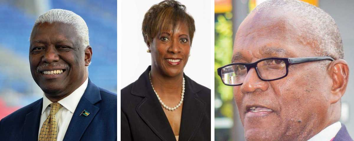 Image: (L-R) NACA president, Mike Sands; Bermuda National Athletics Association (BNAA) president, Donna Raynor and NACAC General Secretary, Keith Joseph. (Photo: CC/BNAA/KJ)