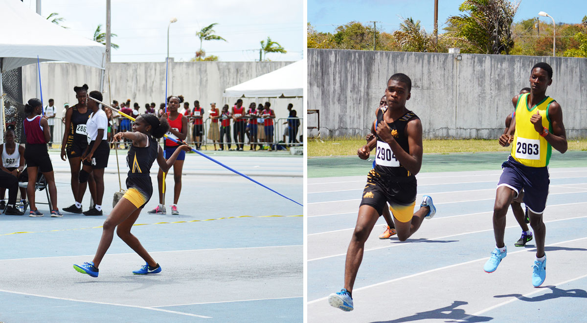 Image: Flashback 2020!! Inter secondary schools Southern Zone qualifier, Girls Javelin; Boys 800 metres. (PHOTO: Anthony De Beauville)