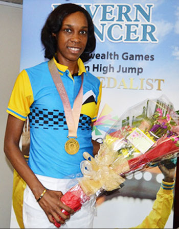 Image: High Jump Queen, Levern Spencer Commonwealth Games gold medallist. (PHOTO: Anthony De Beauville)