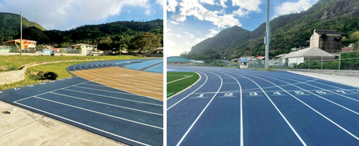 Image: The 400 meters track set and ready for whenever the all clear is given by health officials. (Photo: MOS)