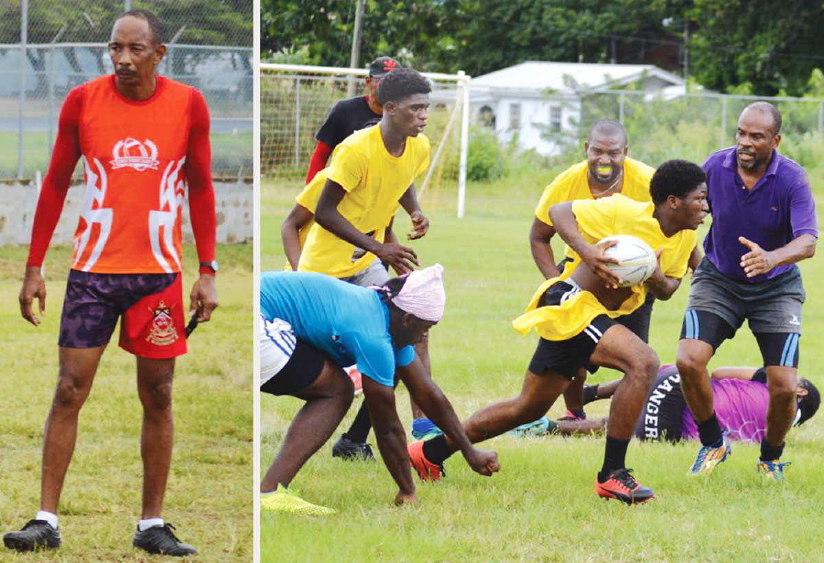Image: Flashback 2020!! (L-R) SLRFU Technical Director, Wayne Pantor; a youthful Monchy Sharks team in action against Renegades. (Photo: Anthony De Beauville)