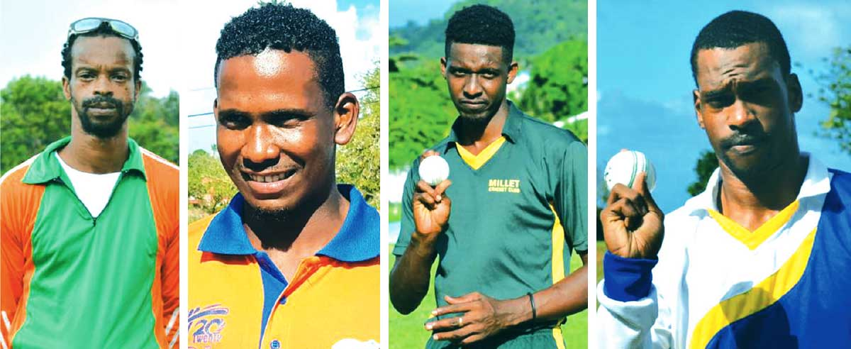 Image: (L-R) Some of the players who will be on show, Alvin La Feuille; Vince Smith, Alvin Xavier, Tyler Sookwa. (Photo: Anthony De Beauville)