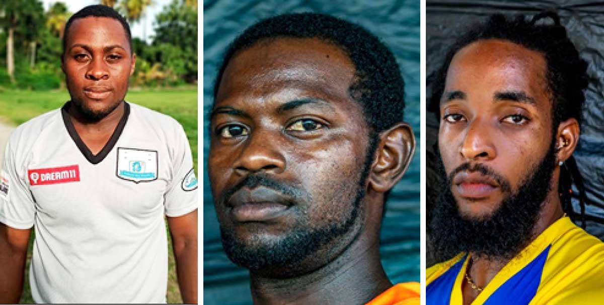 (L-R) Captains, Awene Edward (Laborie); Dishon Rampal (Vieux Fort South) and Shanii Mesmain (Soufriere). (PHOTO: SA)