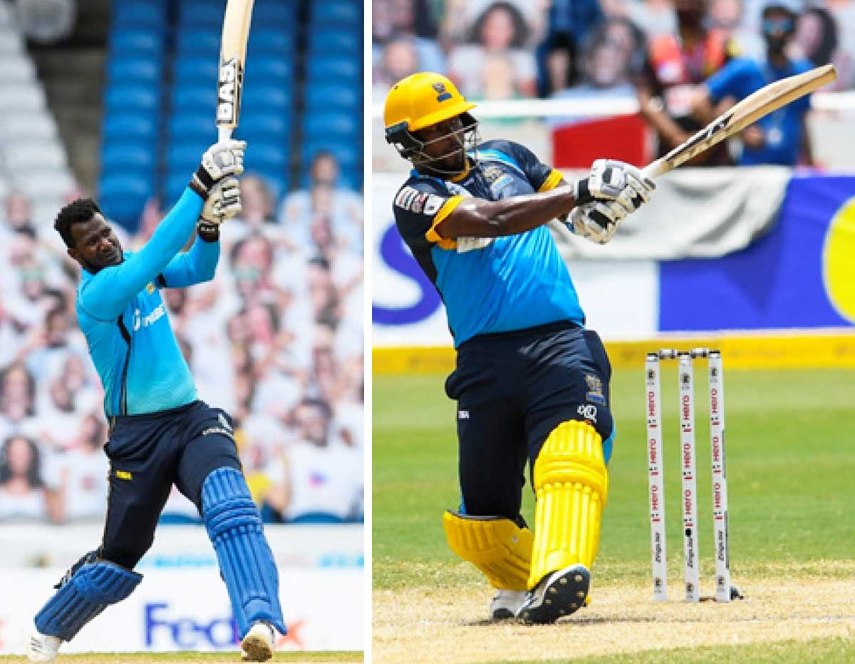 Image: (L-R) Captain Daren Sammy (Micoud) and captain Johnson Charles (South Castries). (PHOTO: CPL T20/ Getty Images)