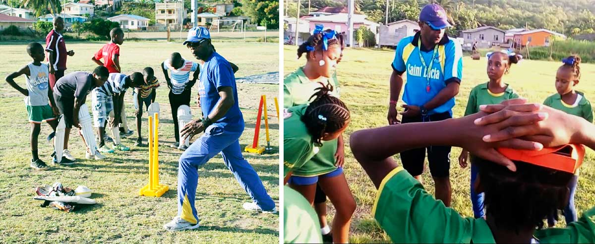 Image: (L-R) Coach, David Olliver during one of the Development Programme. (Photo: DO)