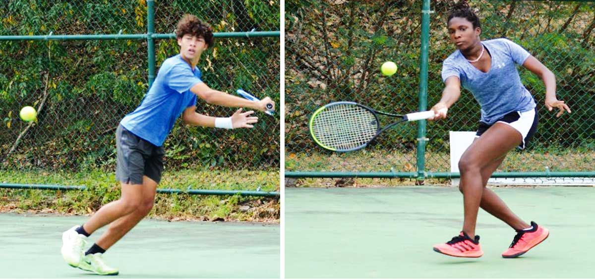 Image: (L-R) Boys and girls singles champions, Joey Angeloni and Alysa Elliott. (Photo: Anthony De Beauville)