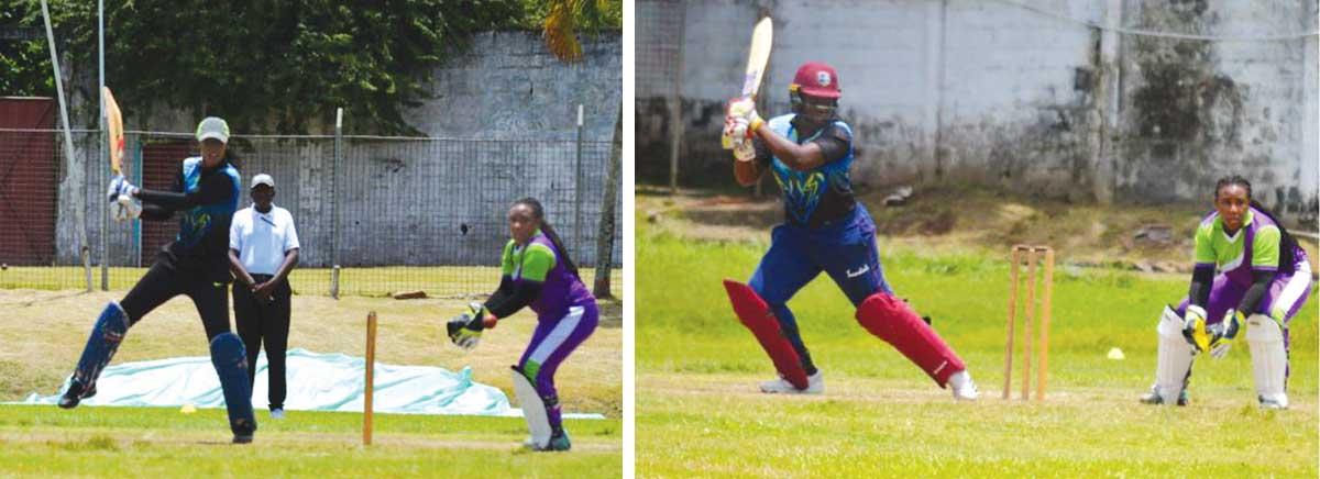 Image: South Castries Malika Edward top scored with 66; Qiana Joseph had a fiery 50 from 51 deliveries. (Photo: Anthony De Beauville)