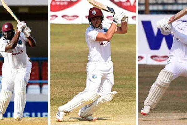 Image: (L-R) Rahkeem Cornwall, Joshua Da Silva and Kyle Mayers