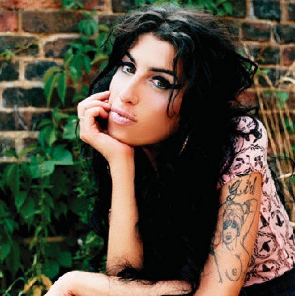 A bright eyed Amy Winehouse