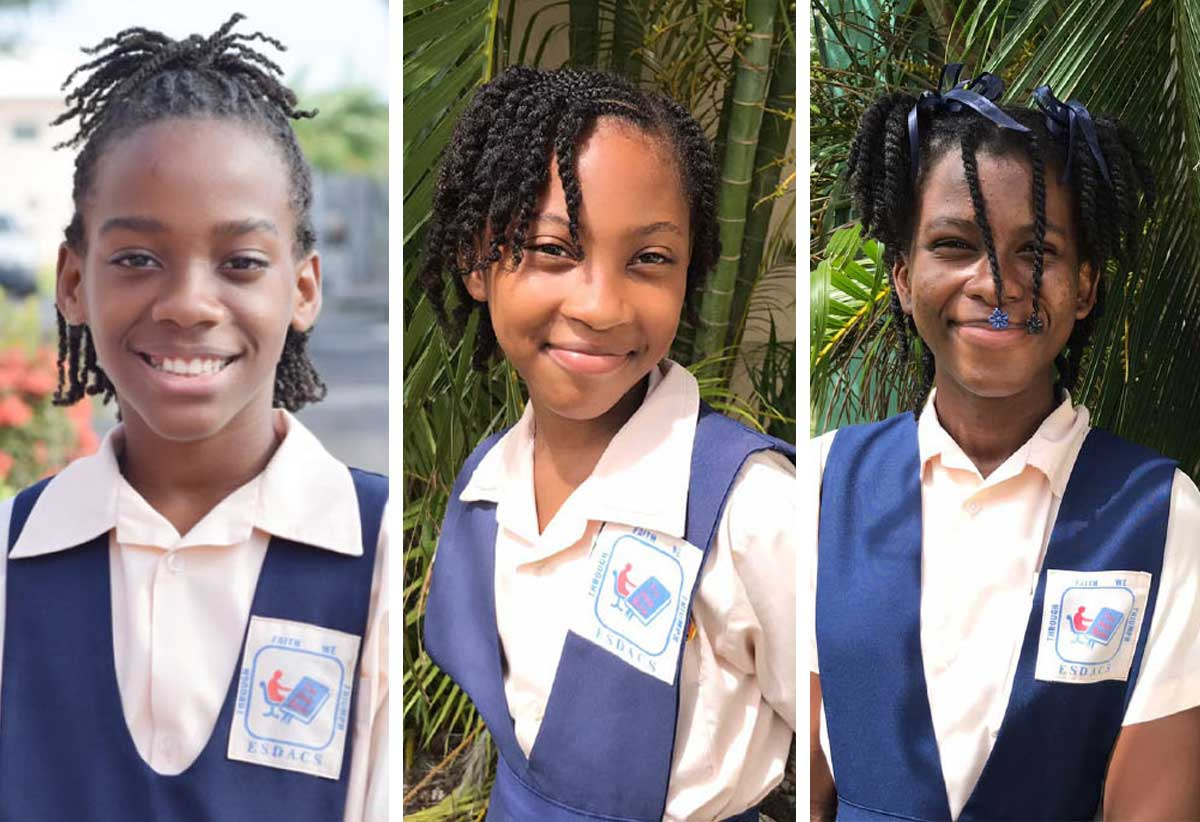 [L-R] Angeli Victor, Royelle Wilson & Chloe Toussaint