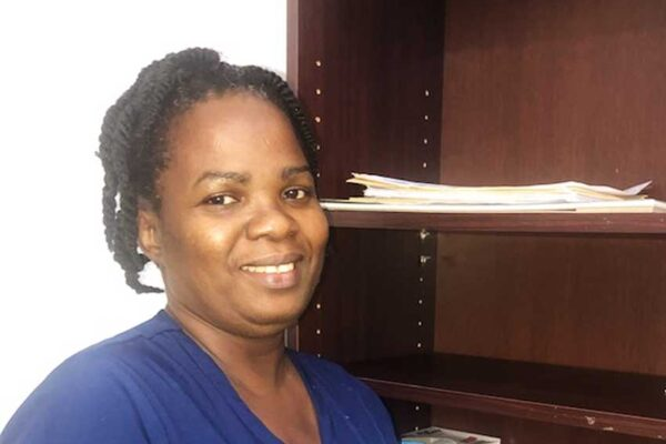 A smiling Claudine Mathurin