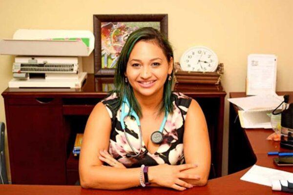 A smiling Dr. Monique Monplaisir