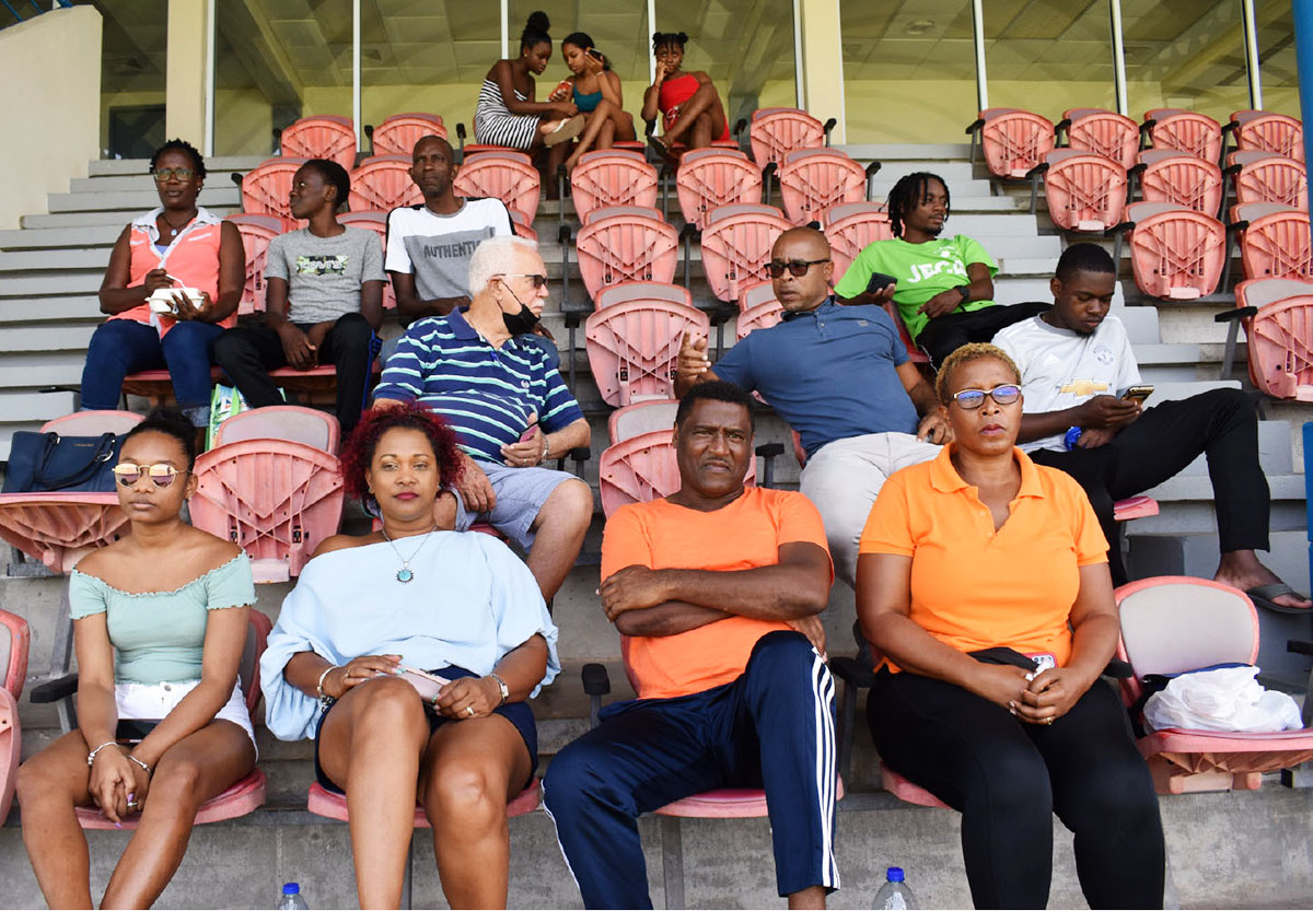 Family and friends at the final on Saturday.  (Photo: Anthony De Beauville)
