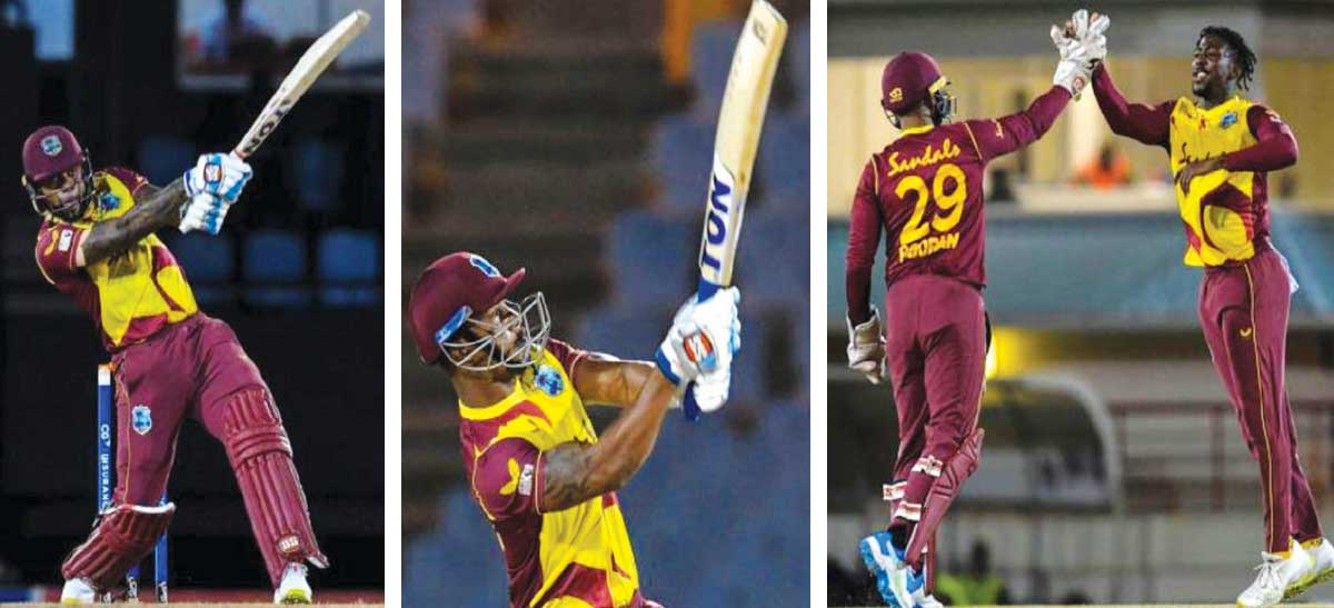 Lendl Simmons made good use of the Powerplay, Fabian Allen's 14-ball 29 wasn't enough to guide West Indies to victory, Hayden Walsh Jr claimed another three-wicket haul. (Photo: AFP/GI)