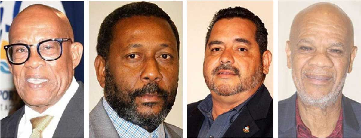 Image: (L-R) CFU Top Brass, President – Randolph Harris (Barbados), VP - Lyndon Cooper (Saint Lucia), VP - Richard Dijkhoff (Aruba), VP-Rignaal Francis (Curacao).