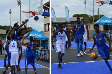 Image: Flashback 2017!! Saint Lucia men's 3x3 team versus Trinidad and Tobago at the Antilles championship in Saint Lucia. (Photo: Anthony De Beauville)